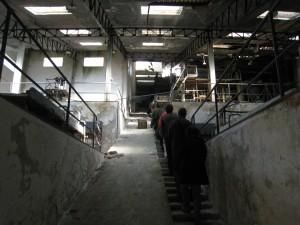Interior de Instalaciones de tratamiento del mineral de wolframio  Foto: M. A. Alvarez Areces