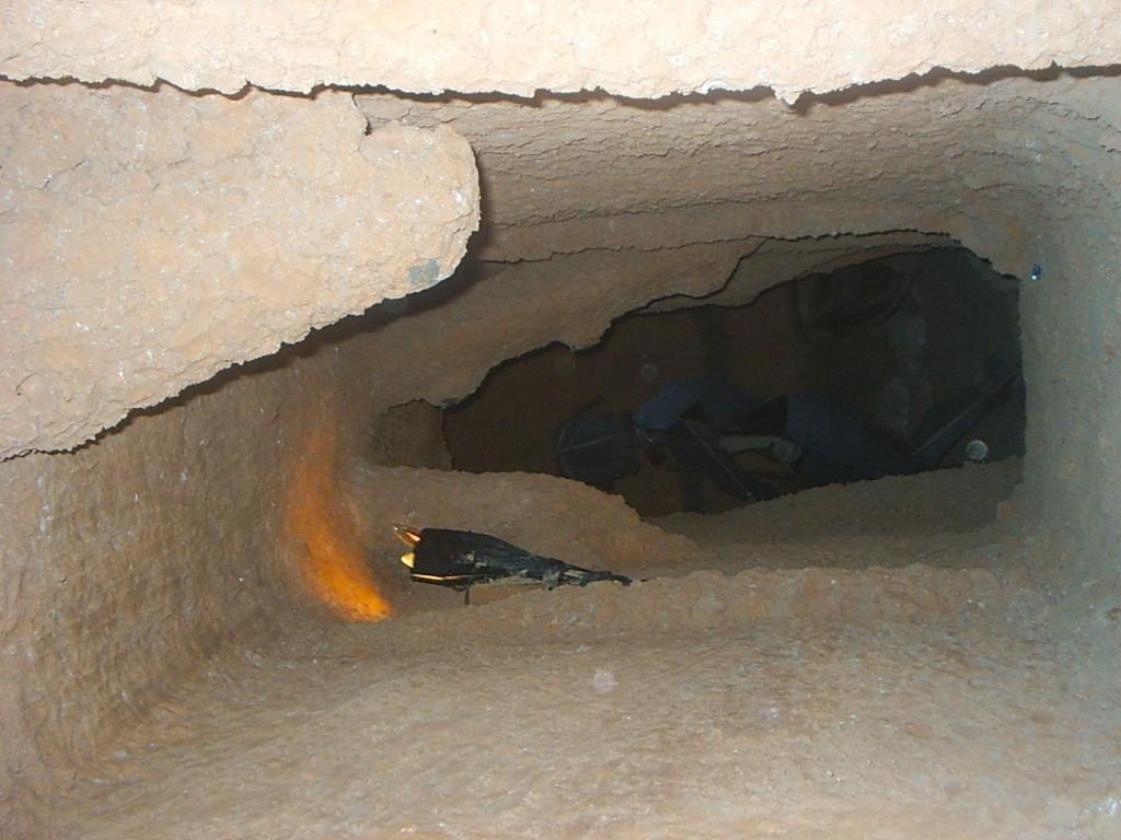 Interior Museo Riotinto. Simulación labores mineras.
