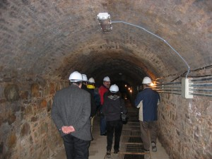 Galería de las minas de mercurio habilitada para la visita. Foto: M. A. Álvarez Areces