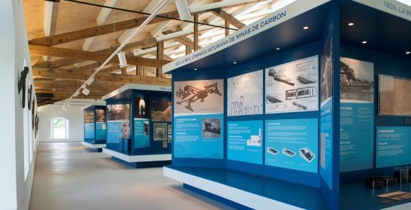 Interior de la sala de exposiciones. Mueso de la Mina de Arnao.