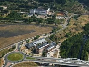 Vista aérea del entorno de la Ene.Térmica. Museo Nacional de la Energía.
